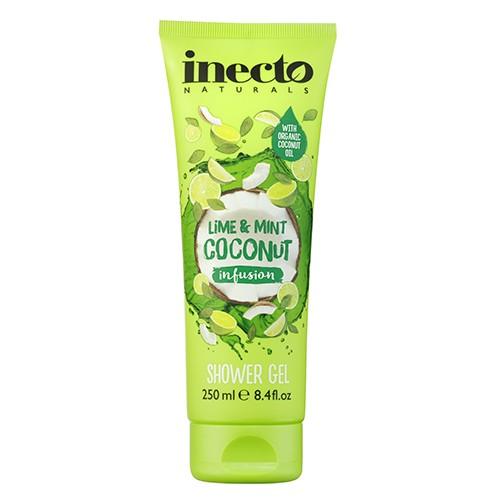Inecto Infusions Lime and Mint Coconut Shower Gel Гель для душа  Кокос & Лимон & Мята Ламбре
